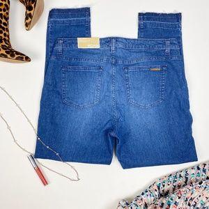 Michael Kors Dark Wash Izzy Skinny Jeans Mid Rise